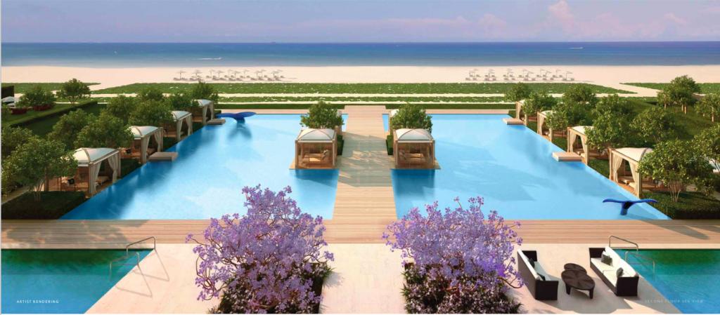 Fendi Chateau Residences Pool & Cabanas