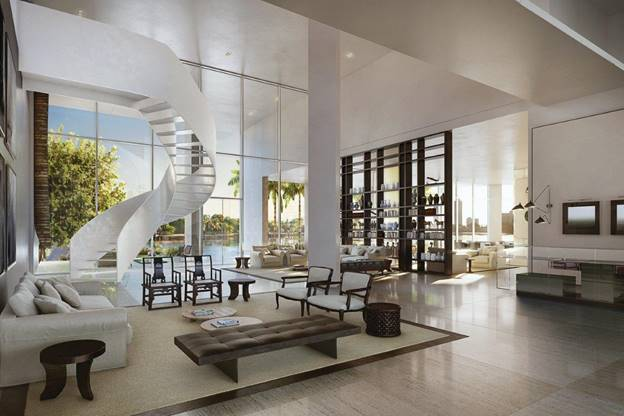 Eastern Arrival Lobby   The Ritz-Carlton Residences Miami Beach